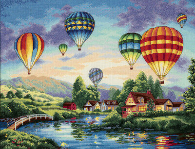 """Gold Collection Balloon Glow Counted Cross Stitch Kit-16""""X12"""" 18 Count"""