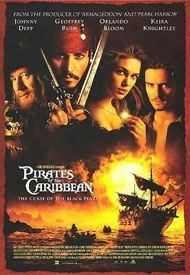 PIRATES OF THE CARIBBEAN ~ CURSE OF THE BLACK PEARL INTL 27x39 MOVIE POSTER