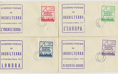 1971 Postal Strike Randall Postal Service Covers With Italian Cachet, Excellent