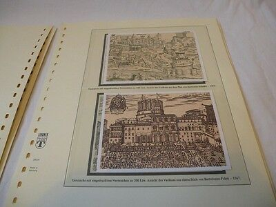 VATICAN CITY 1980s MAXI CARDS WITH USED STAMPS ON SPECIAL LINDNER ALBUM LEAVES