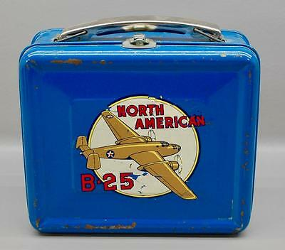 VINTAGE 1940s LUNCHBOX - NORTH AMERICAN B-25 BOMBER - ROSIE THE RIVETER WWII