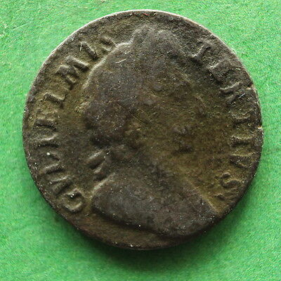 1699 William III Farthing Extremely rare type SNo7287