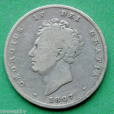 1827 7 over 6 not listed George IV Shilling SNo32409