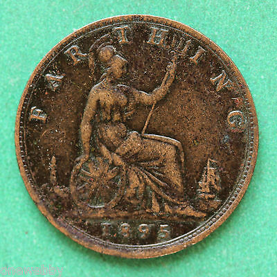 1895 Scarce Queen Victoria Young head variety Farthing SNo33927