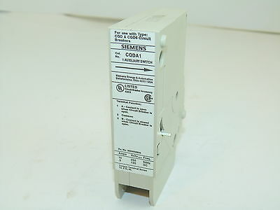 Siemens CQDA1 Auxiliary Switch For CQD & CQD6 Circuit Breakers Surplus