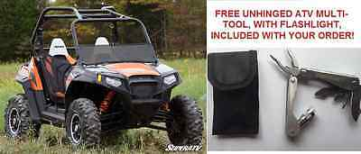 MADE IN THE USA! Polaris RZR 800/900/570 Scratch Resistant Half Windshield - TNT