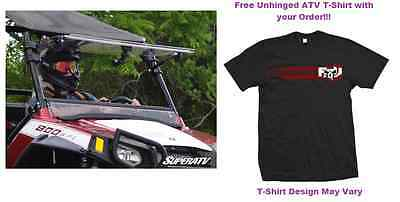 MADE IN THE USA Polaris RZR 570/800/XP 900 Scratch Resistant Flip Windshield