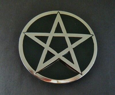 Pentagram Ritual Exorcist  Black Star Belt Buckle Boucle de Ceinture