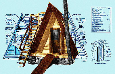 Build a A frame outdoor playhouse with deck  or occasional winter retreat