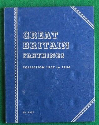 1937 to 1956 George VI Elizabeth II Complete Whitman Farthing folder SNo35891