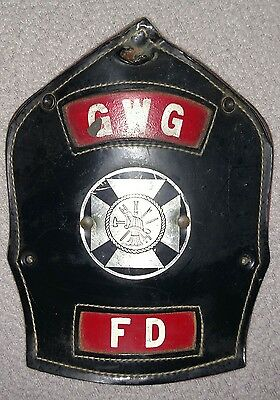 Vintage Cairns Gaithersburg Washington Grove MD Fire Helmet Front Shield Device