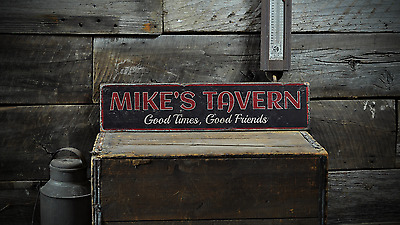 Custom Good Times Good Friends Tavern - Handmade Vintage Wooden Sign ENS1001181