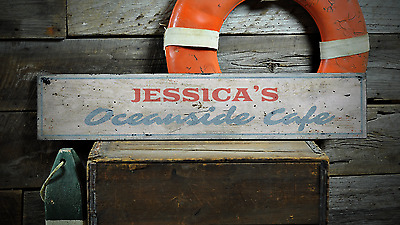 Custom Chef Baker Name Kitchen /& Cafe Rustic Distressed Wood Sign ENS1001446