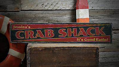 Custom Crab Shack It's Good Eatin - Rustic Handmade Vintage Wood Sign ENS1001187