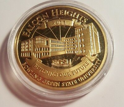 2011 Bowling Green State University Falcon Heights Centennial Hall coin medal