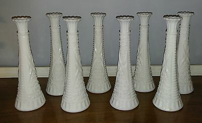 Milk Glass Bud Vases 9 inches