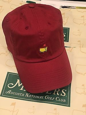"""NEW Augusta National Golf """"Cardinal Red"""" Cap Hat Members Only Masters Berckmans"""