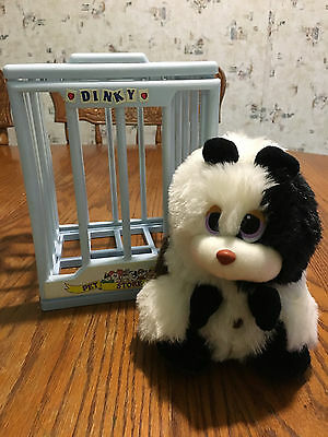 VINTAGE Plush Guinea Pig Stuffed Animal Cage Tonka Pet Store Shop Pals Rare HTF