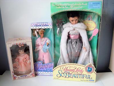 Playmates Young Lady So Beautiful Princess Vanna White & Baby Boy Victorian Doll