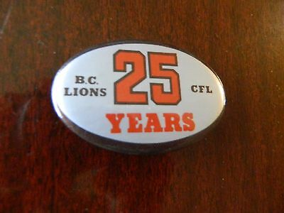 1979 BC Lions 25th anniversary pin CFL LIONS PINBACK Button