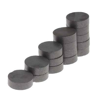Craft Hobby Ceramic Disc Magnets 3/8 Inch Diameter (15 Pieces)