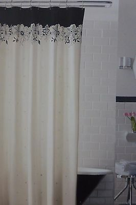 Casual Home Eyelet Embroidery Fabric Shower Curtain 72 X NIP