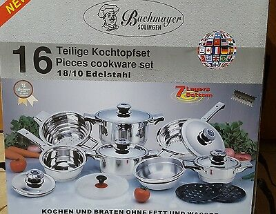 16 PIECES COOKWARE set Bachmayer Solingen