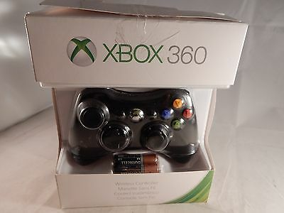 OEM Official Microsoft Xbox 360 Wireless Controller - Black (NEW IN BOX) #C908