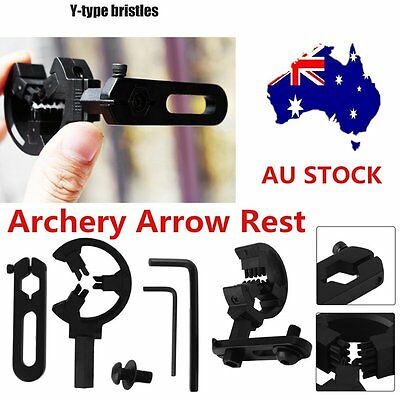 Archery CompOPnd Bow Brush Capture Arrow Rest Hunting Alloy Right/Left Hand OP