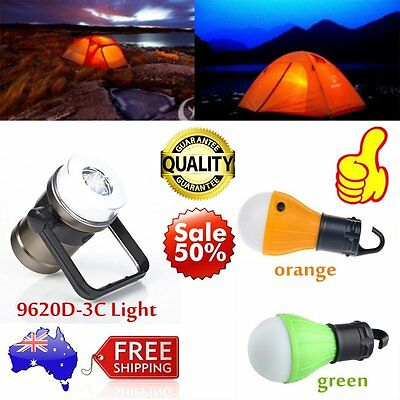 Outdoor Hanging 3LED Camping Tent Light Bulb Fishing Lantern Lamp AU Stock AUOP