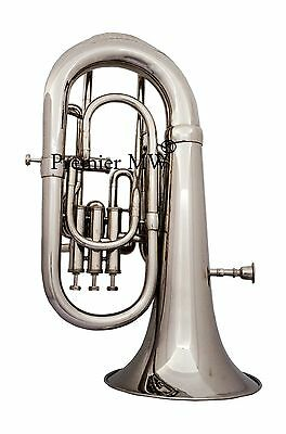 4 VALVE Premier MW Bb PITCH EUPHONIUM NICKEL/SILVER PLATED POLISHED  WITH CASE