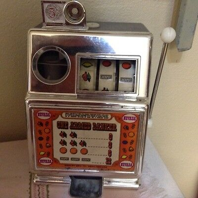 50% Off Today Only Vintage   Slot Machine Mechanical  Bank
