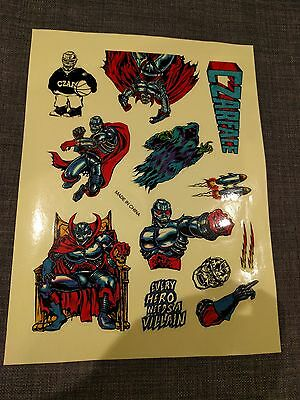 CZARFACE Hip Hop Complete STICKERS SHEET - 12 Stickers in Total *FREE SHIPPING*