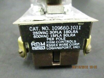 RBM Controls 109660-1011 Relay new