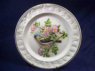 Chaffinch Bird Royal Worcester Collector Display Plate