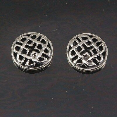 NEW Handcrafted Sterling Silver 925 Round Celtic Knot Stud Silver Earrings