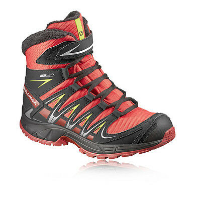 Salomon XA Pro 3D Junior Red Waterproof Trail Walking Trekking Boots Shoes