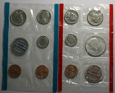 US 1969 Mint Set P & D No Envelop Including Silver Kennedy Half Dollar