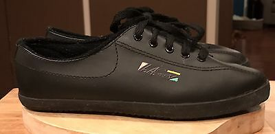 Vintage Ladies L.A Gear Black 1990's Shoes Retro Fitness Size 6 Punk Flats