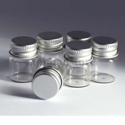 10 pcs 5ml 22x30mm Small Clear Glass Bottle Vial Pendant With Aluminum Lid