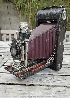 Appareil Photo A Soufflet Rouge Folding Pocket Kodak Model B-4
