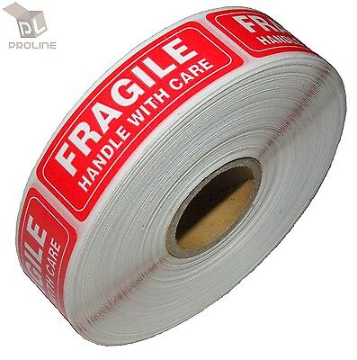 5 Rolls 1000 Per Roll 1 x 3 FRAGILE HANDLE WITH CARE Stickers Labels, Easy Peel