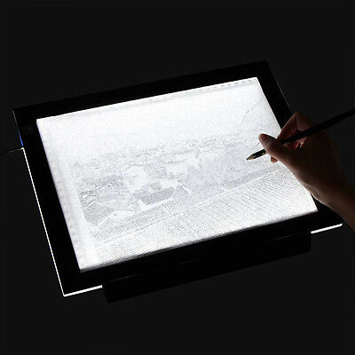 A3 LED Light Box Tracing Board Art Design Stencil Drawing Pad Copy Lightbox Thin