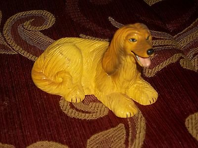 Vintage AFGHAN HOUND DOG Figurine Lifelike Breed ~made by New-Ray Toy
