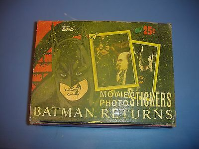 Topps Batman Returns movie photo stickers complete box 60 sealed packs of 5