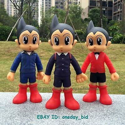 "New set of 3 Nice Anime Astro Boy Figures Tetsuwan Atom 13""H each New In Box"