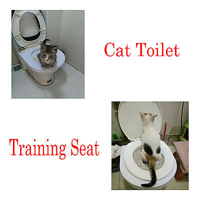 Cat Toilet Training Seat Litter and garbage Tray Boxes Kit Potty Train System