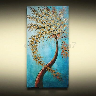 Modern Abstract Tree Art Oil Painting Canvas Print Picture Home Decor Unframed