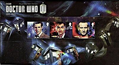 Dr Who 2013 50Th Anniversary Presentation Pack 482+Mini Sheet New Mnh