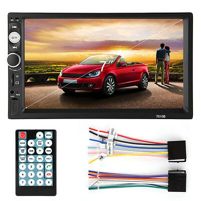 Double 2DIN 7'' Car DVD CD MP5 Player Touch Screen In Dash Stereo Radio AF